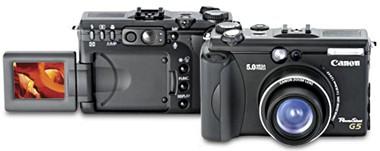 Câmera digital Canon Powershot G5 de 5 Megapixels